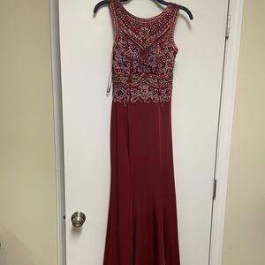 Women's prom dress red